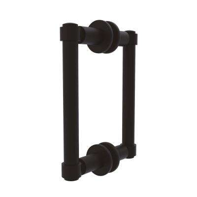 Contemporary 6 in. Back to Back Shower Door Pull in Oil Rubbed Bronze