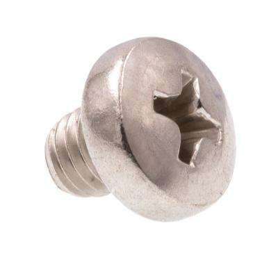 M5-0.8 x 5 mm Grade A2-70 Metric Stainless Steel Phillips Drive Pan Head Machine Screws (10-Pack)