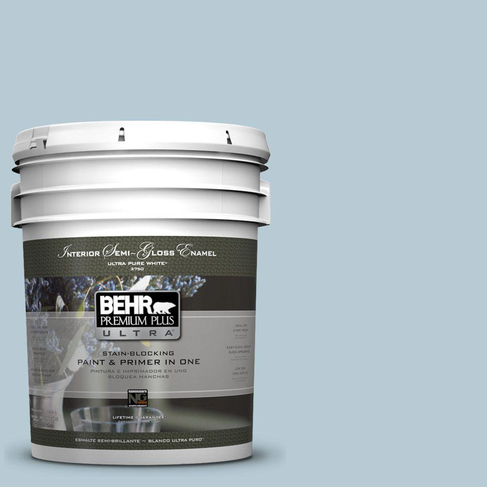 BEHR Premium Plus Ultra 5 gal. #530E-3 Sonata Semi-Gloss Enamel Interior Paint and Primer in One
