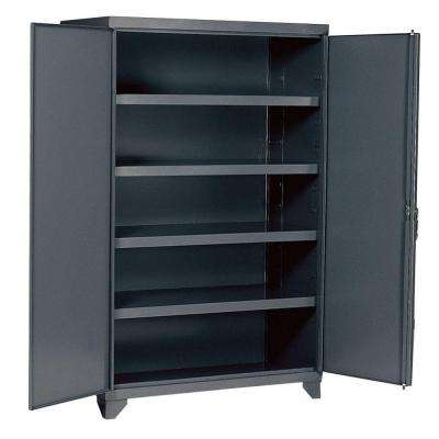 78 in. H x 48 in.W x 24 in. D 5-Shelf Steel Freestanding Storage Cabinet in Gray