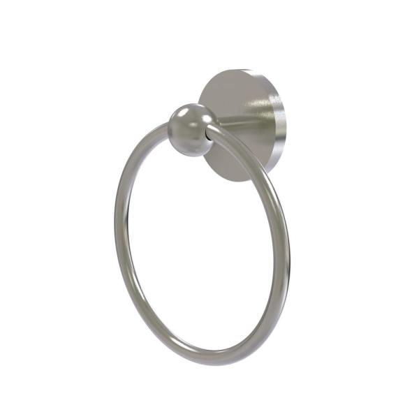 Allied Brass Skyline Collection Towel Ring In Satin Nickel 1016 Sn The Home Depot