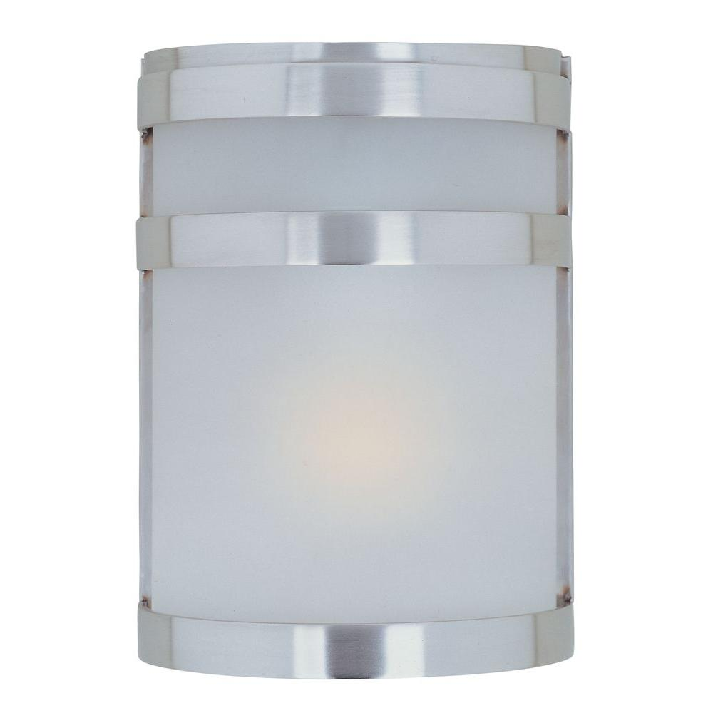 Maxim Lighting Arc 1-Light Stainless Steel Outdoor Wall Lantern Sconce