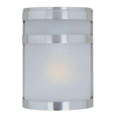 Arc 1-Light Stainless Steel Outdoor Wall Lantern Sconce