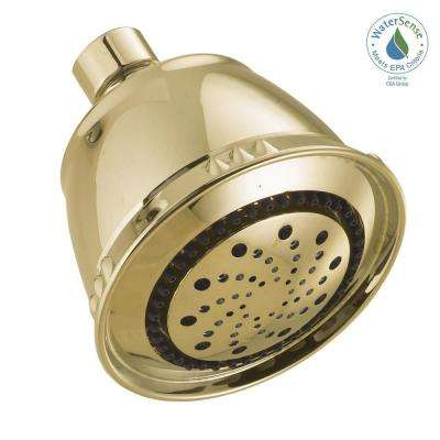 5-Spray 3.75 in. Fixed Showerhead in Polished Brass