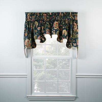 Regency 30 in. L Cotton Lined Duchess Valance in Navy