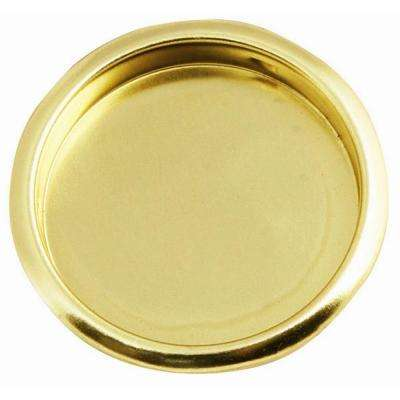 2-1/8 in. Polished Brass Closet Door Finger Pull