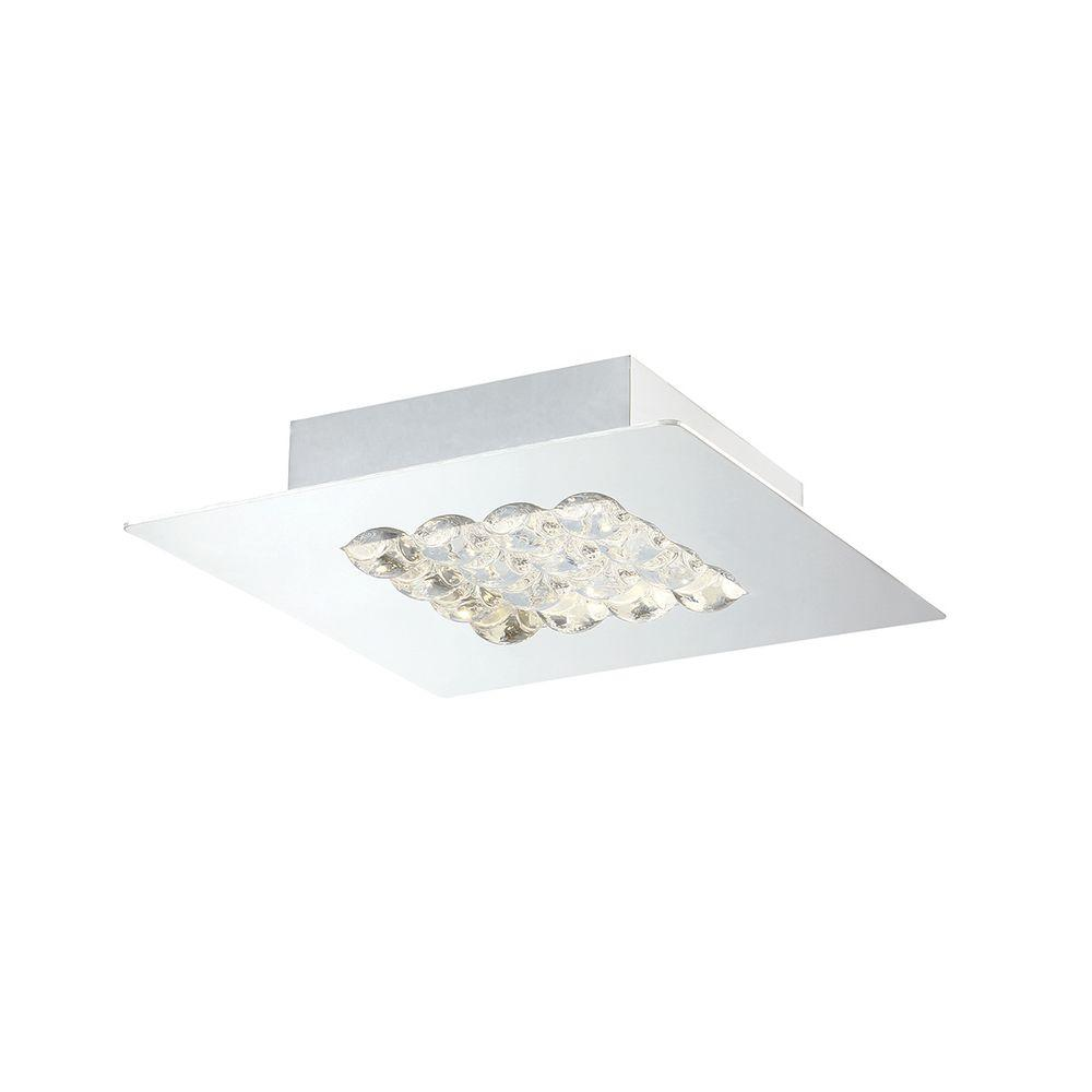 eurofase denso collection 1 light chrome led small surface