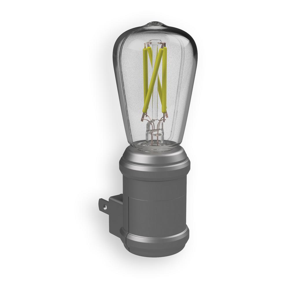 Aged Nickel Automatic Vintage Edison LED Night Light