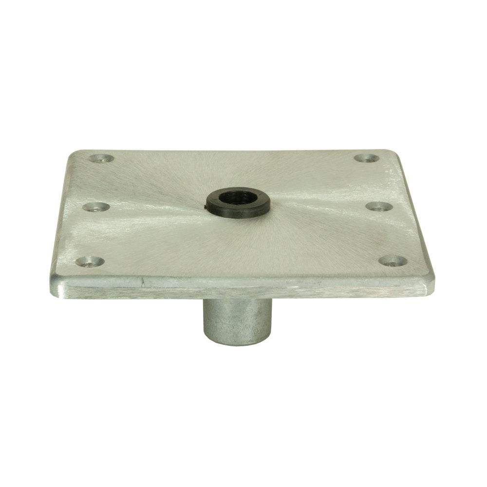 "Springfield 1620016 Kingpin Aluminum Floor Boat Seat Base 7/""X7/"""