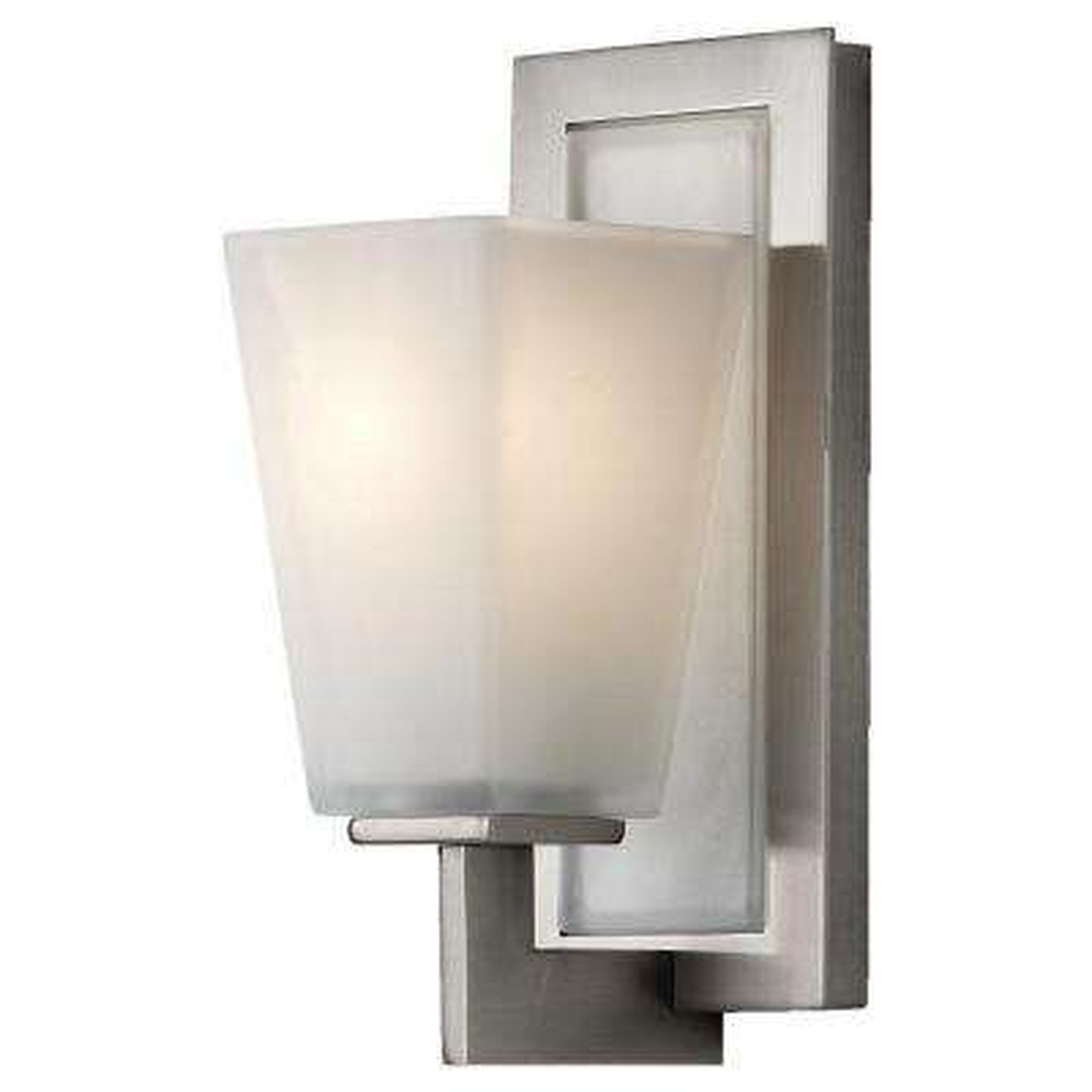 Clayton 1-Light Brushed Steel Vanity Light