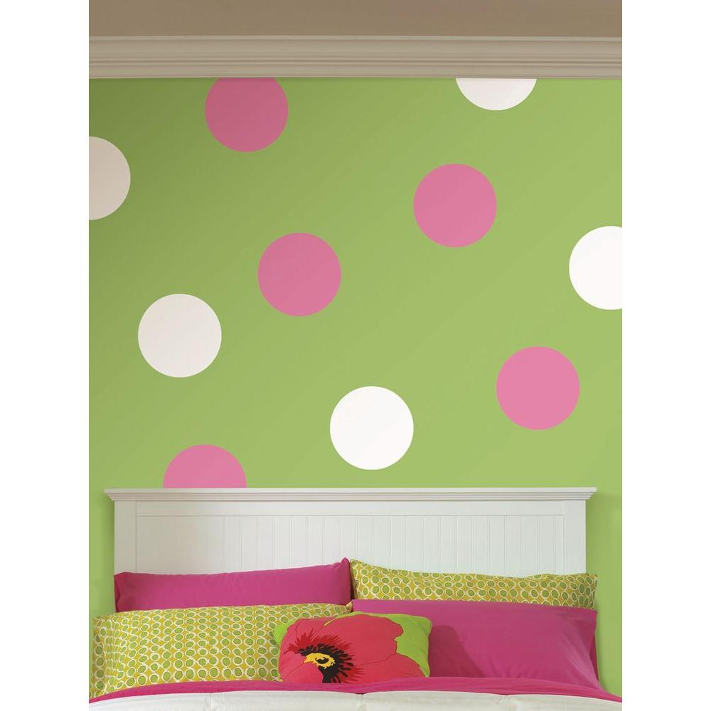 Ghost White Dot 10 Piece Wall Decal