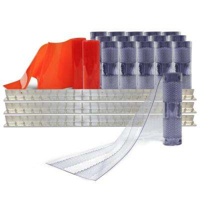 AirStream Insect Barrier 12 ft. x 12 ft. PVC Strip Door Kit