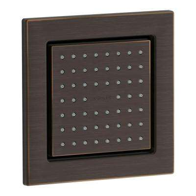 WaterTile Square 1-Way Body Sprayer in Oil Rubbed Bronze