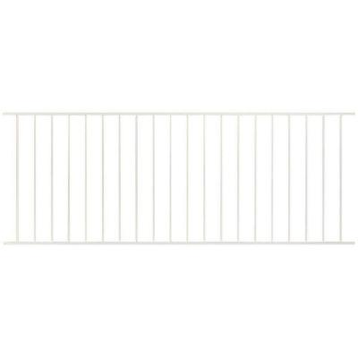 Pro Series 2.67 ft. H x 7.75 ft. W White Steel Fence Panel