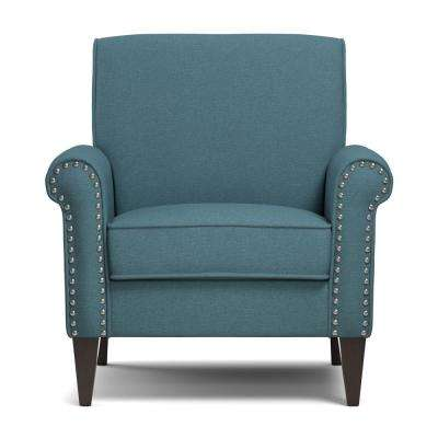 Jean Caribbean Blue Linen Arm Chair