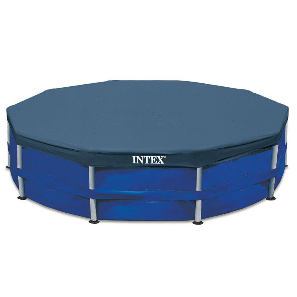 Intex 15 Ft Round Metal Frame Solar Leaf Pool Cover
