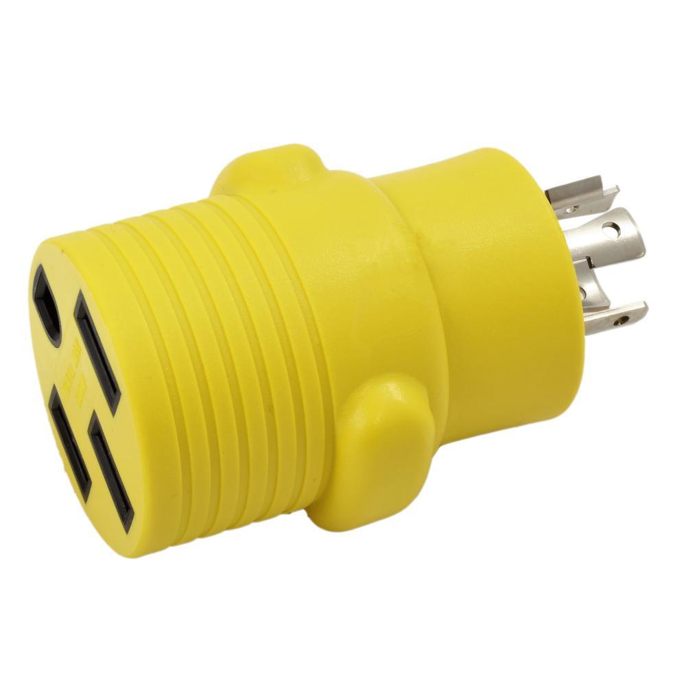Ac Works Rv Generator Adapter 20 Amp 4 Prong Nema L14 20p Plug To 50 14 50p Wiring