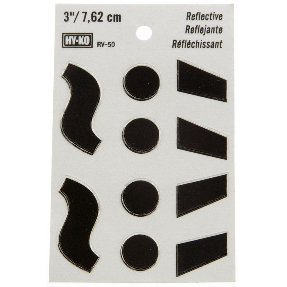 HY-KO 3 in  Self-Adhesive Vinyl Reflective Accents-RV-50/SPN
