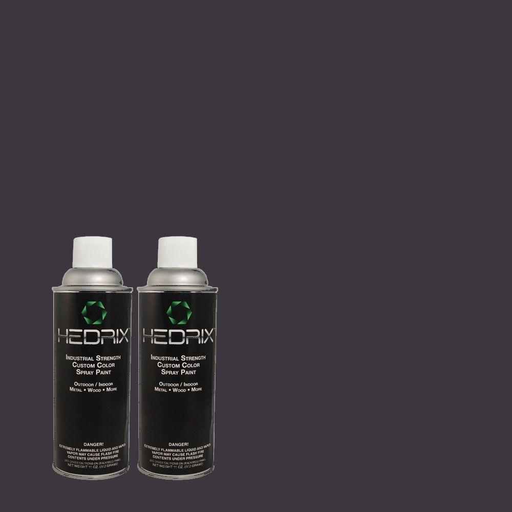 Hedrix 11 oz. Match of 8347 Blue Ebony Low Lustre Custom Spray Paint (2-Pack)