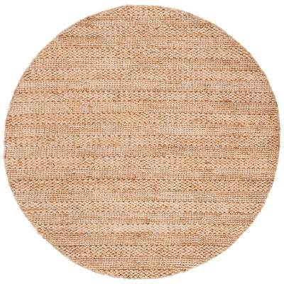 Natural Fiber Tan 6 ft. x 6 ft. Round Indoor Area Rug