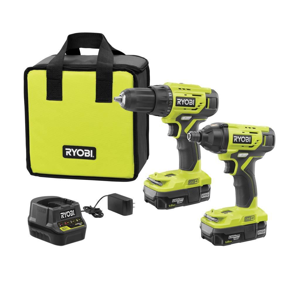 Deals on RYOBI 18V ONE+ Li-ion 2-Tool Combo Kit w/Battery