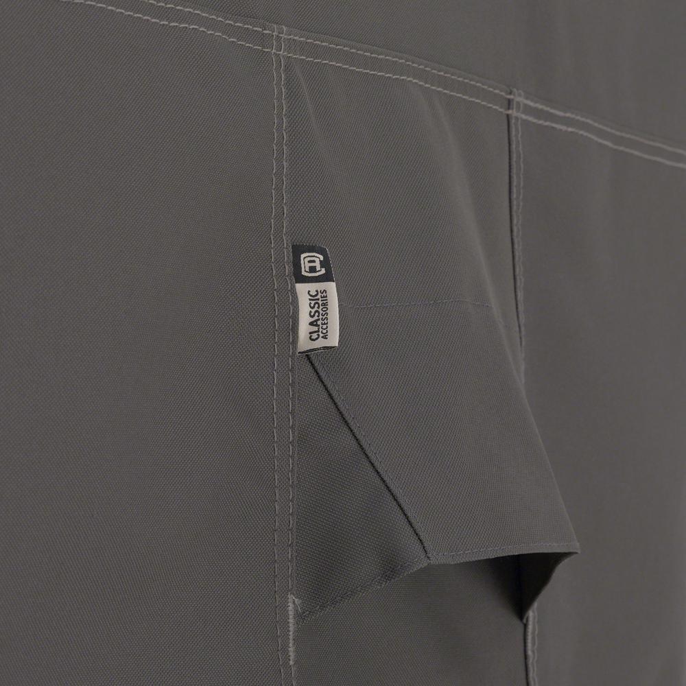 Classic Accessories 55-150-035101-EC  Ravenna Water-Resistant 76 Inch Patio Sofa//Loveseat Cover,Taupe,Medium