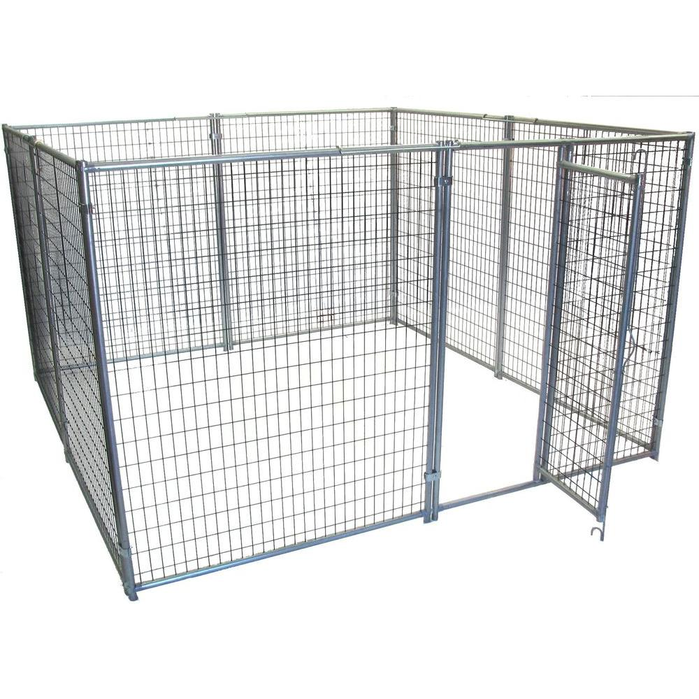 Options Plus 10 ft. x 10 ft. x 6 ft. 9-Gauge Wire Ultra Series Dog Kennel