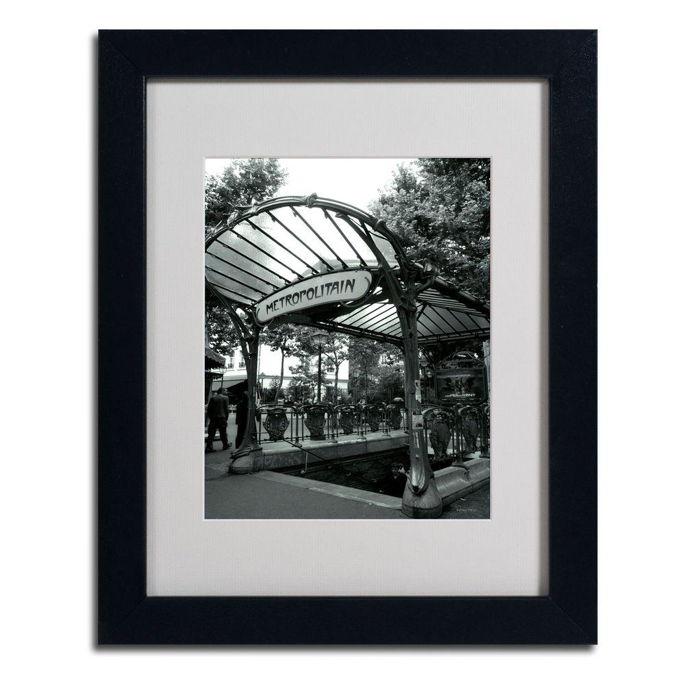 11 in. x 14 in. Le Metro as Art Matted Framed