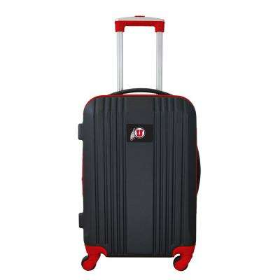 NCAA Utah 21 in. Red Hardcase 2-Tone Luggage Carry-On Spinner Suitcase