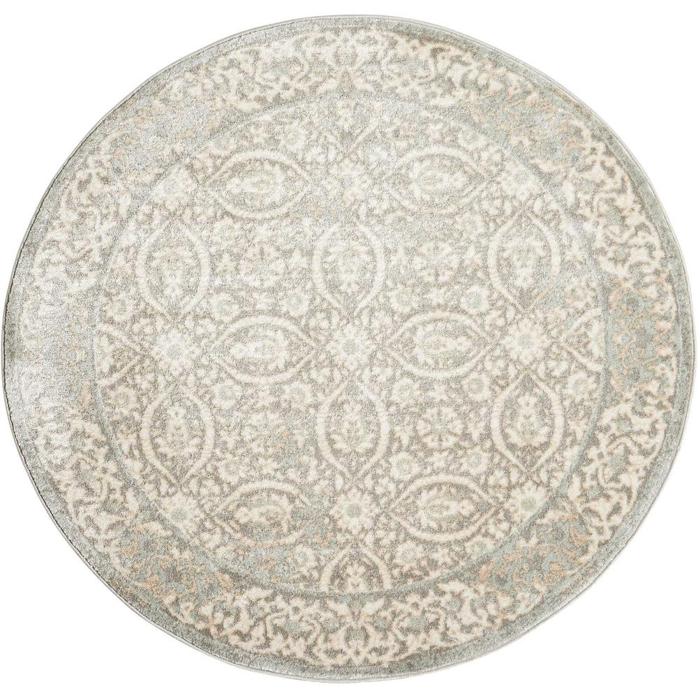 Euphoria Grey 7 ft. 10 in. Round Area Rug
