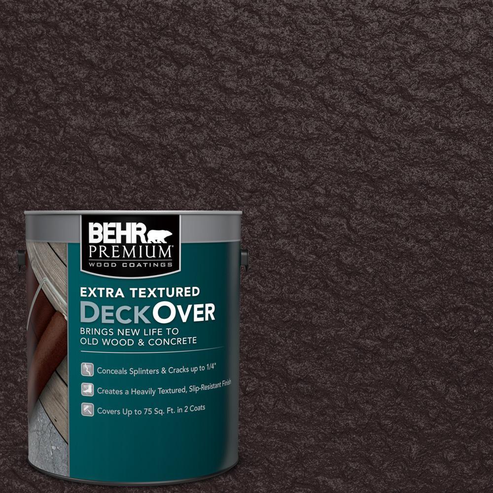 BEHR Premium Extra Textured DeckOver 1 gal SC 104 Cordovan Brown