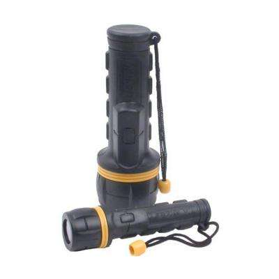 2D / 2AA PVC Rubber Flashlight Combo with Batteries