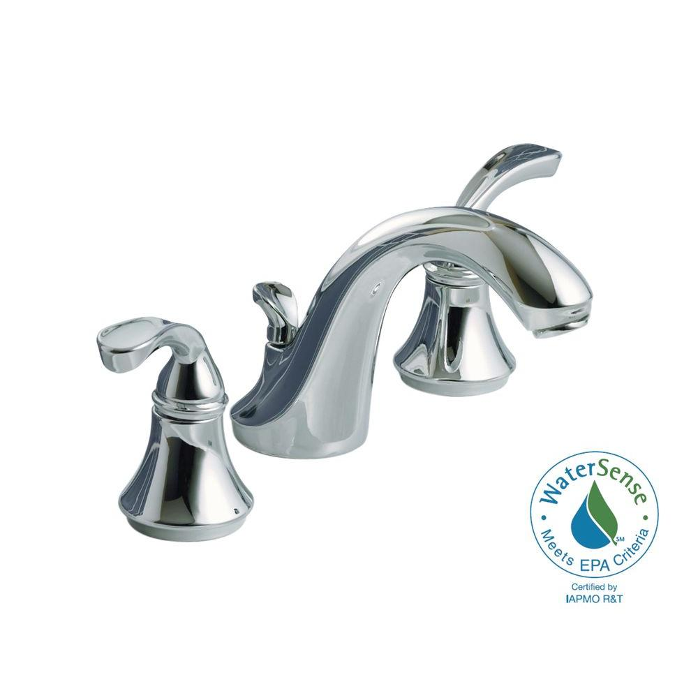 KOHLER Forte 8 in. 2-Handle Bathroom Faucet in Polished Chrome-DISCONTINUED