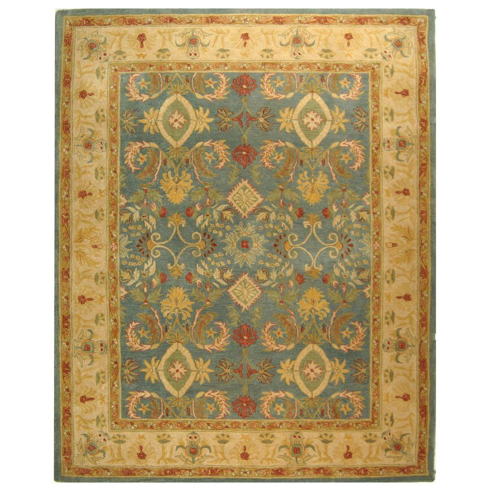 Safavieh Anatolia Light Blue Ivory 5 Ft X 8 Ft Area Rug An544d 5