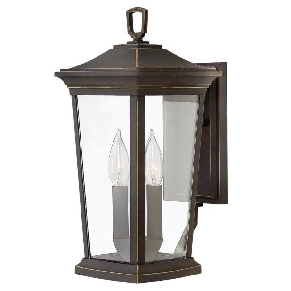 Bromley Small 2-Light Oil Rubbed Bronze Outdoor Wall Lantern Sconce