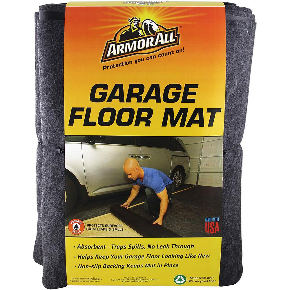 Armor All 5 ft. x 5.5 ft. Charcoal Gray XL Garage Flooring