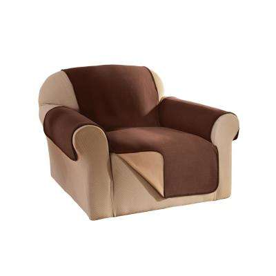 Chocolate Reversible Waterproof Fleece Chair Furniture Protector