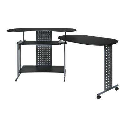 Regallo Black Expandable Computer Desk