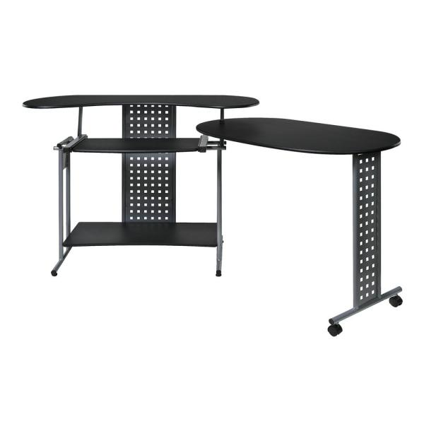 OneSpace Regallo Black Expandable Computer Desk