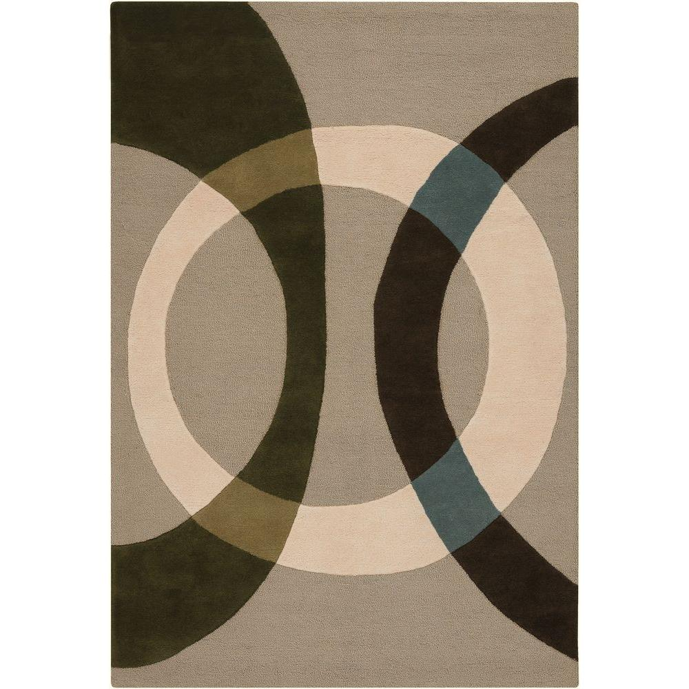 Bense Cream/Beige/Green/Brown/Blue 7 ft. 9 in. x 10 ft. 6 in.