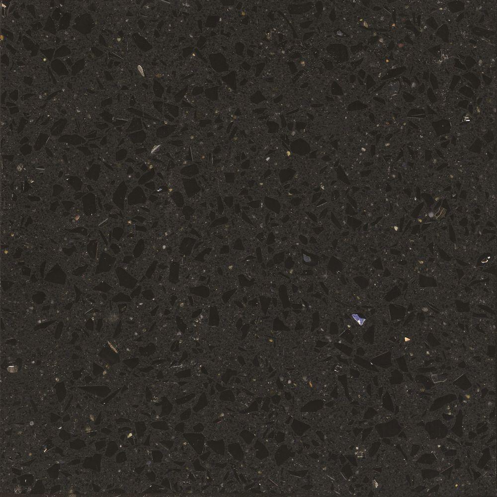 2 in. x 4 in. Quartz Countertop Sample in Stellar Night