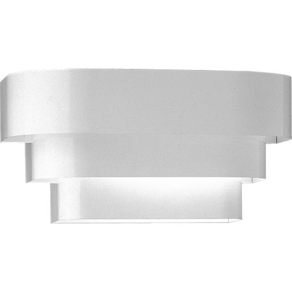 White Wall Sconce With Metal Shade