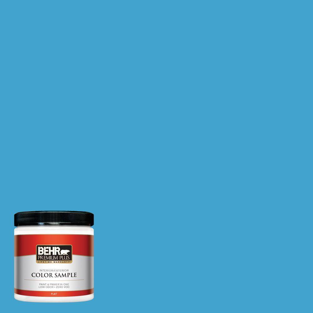BEHR Premium Plus 8 oz. #540B-6 Sea Ridge Interior/Exterior Paint Sample