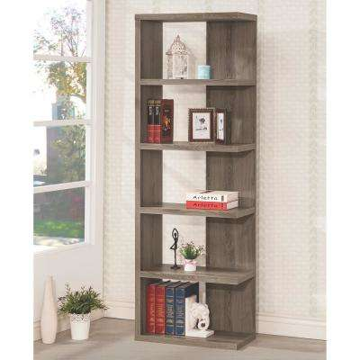 Kellar Weathered Grey Bookshelf