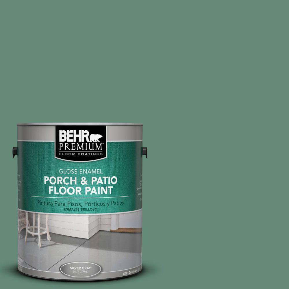 1 gal. #PFC-44 Green Adirondack Gloss Interior/Exterior Porch and Patio Floor Paint