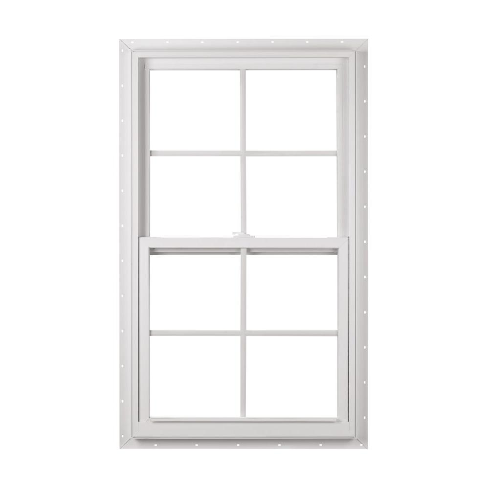23.375 in. x 35.25 in. 50 Series Single Hung White Vinyl