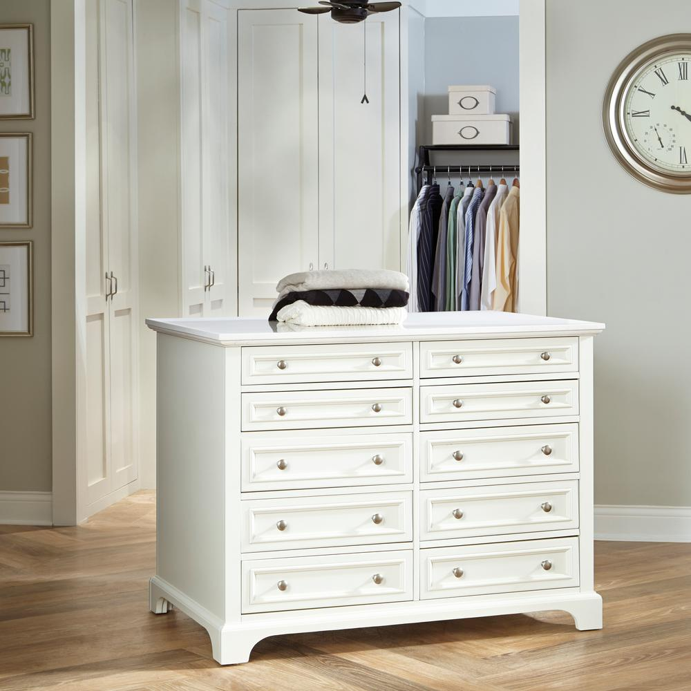 Home Styles Naples 48 in. W Closet Island in White-5530-940 - The ...
