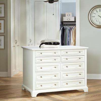 Naples 48 in. W Closet Island in White
