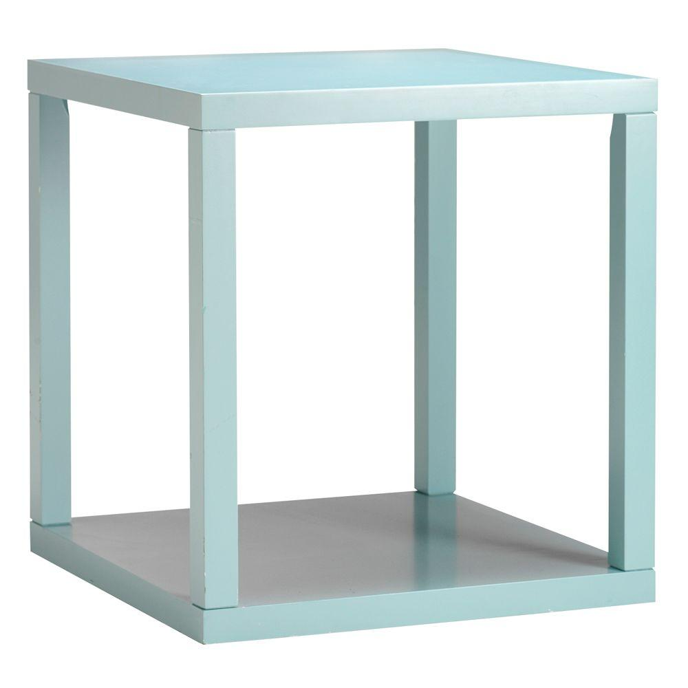 Home Decorators Collection 22 in. W Parsons Blue End Table