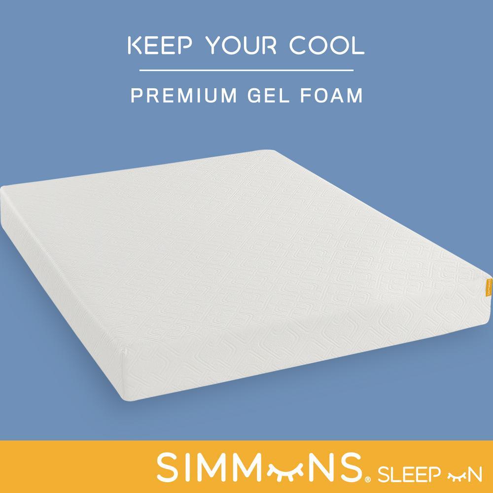 Simmons 8 In Memory Foam Medium Tight Top Queen Mattress